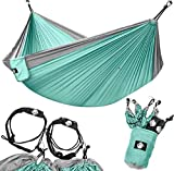 Legit Camping Hammock - Portable Hammock - Travel Hammock - Hammocks for Outside - Double Hammock - Outdoor Hammock - 2 Person Hammock - Tree Hammock - Hammock Camping