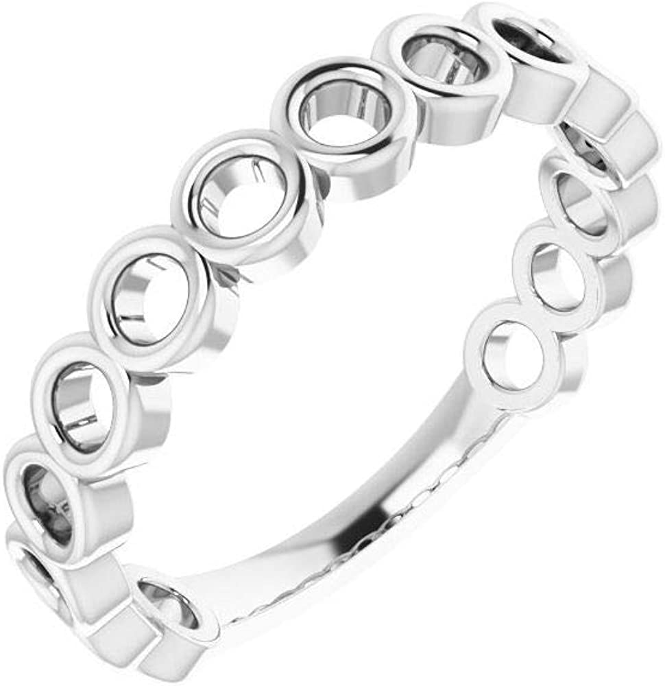 Stackable Wedding Anniversary Ring Band (Width = 3.6mm)