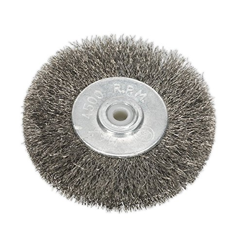 Grizzly Electric Grout Brush Replacement Brush Wire Brush Set of 2 Joint Cleaner Metal Grout Brushes Set of 2 for Grizzly EFB 400 and EFB 401 Blistered