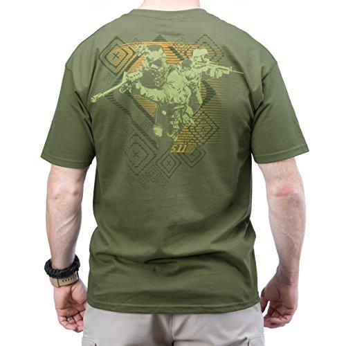 5.11 Red Scope Logo T-Shirt OD Vert Size S