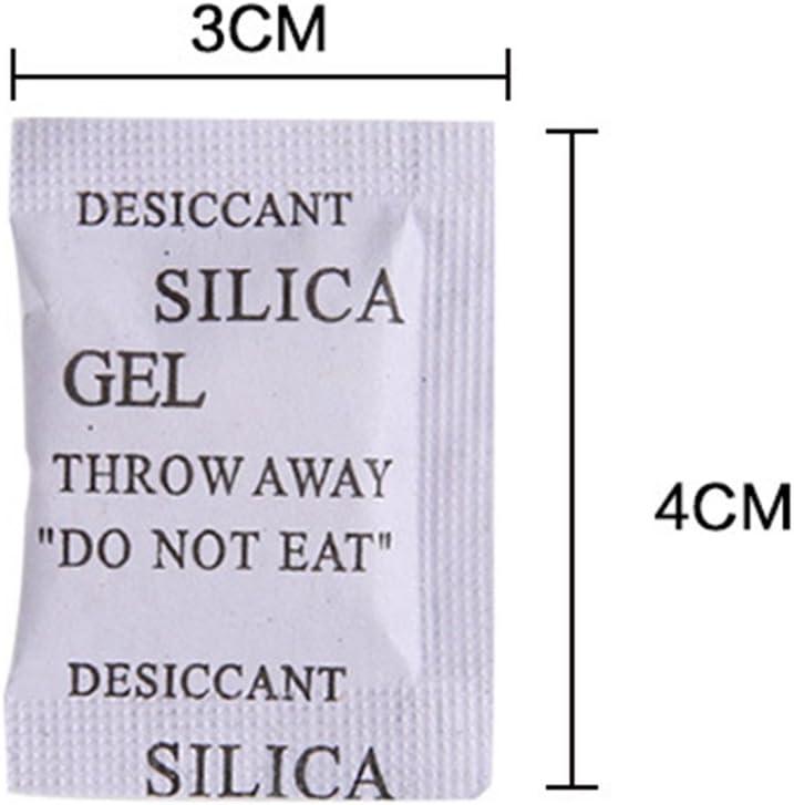 R/ésistant /à lhumidit/é et non toxique Absorbeur dhumidit/é et d/ésodorisant YYWJ Lot de 200 sachets de gel de silice d/éshydratant Protection contre la moisissure et la corrosion 1 g