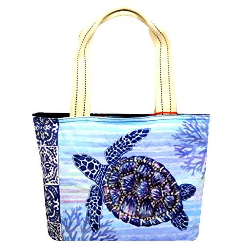Blue Sea Turtle Kleine Damen Tragetasche