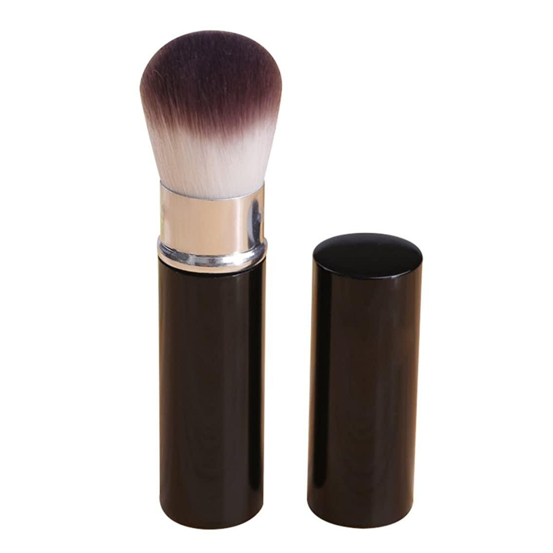 Whthteey Portable Foundation Brush Retractable Face Powder Brush with Lid