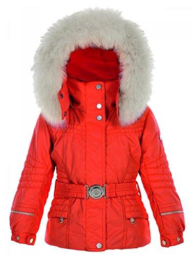 Wit peper-ski-jack, waterdicht, rood, 18 maanden, 2 jaar