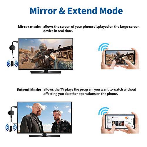 SOCLL Wireless HDMI Display Dongle Adapter, 4K-Screen Connector Wi-Fi Streaming Video Receiver Kompatibel mit Android/ Windows/ PC zu HDTV/ Monitor/ Projektor, Unterstützung von Miracast DLNA