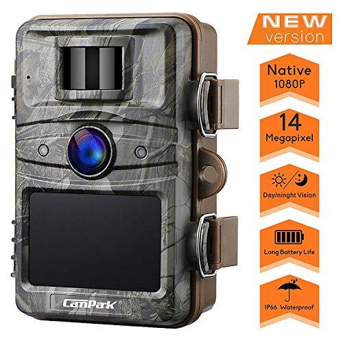 Campark Wildkamera 14MP 1080P No Glow Night Vision Überwachungskamera Jagdkamera Sicherheit Bewegungsaktivierte Kamera mit 2.4