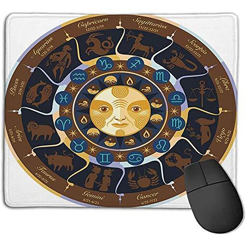 Muismat Astrologie wim stier tweelingen kreeft Leo jong weegschaal schorpioen horoscoop teken bruin geel en blauw ol Office mo