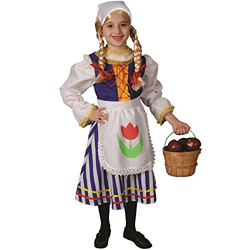 Dress Up America Petite fille Deluxe Dutch Gir Costume
