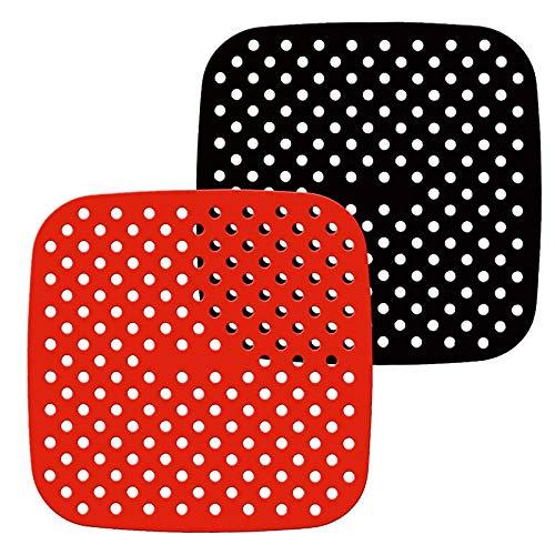 Revestimientos Reutilizables para Freidoras de Aire, Silicona Antiadherente Accesorios para Tapetes de Canasta de Freidora de Aire para Cosori, NuWave, Chefman, Dash