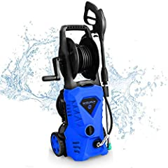 3000PSI ELECTRIC PRESSURE WASHER: Powerful 1600-Watt motor generates up to 3000 PSI/1.85 GPM for max cleaning power. 3000 PSI at 1.85 GPM will blast through grime and dirt to restore your surfaces. 5 QUICK-CONNECT SPRAY TIPS: 5 quick connect nozzles ...