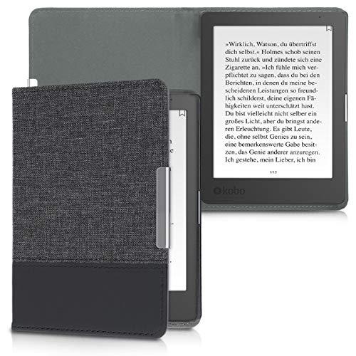 kwmobile Funda de e-Book Compatible con Kobo Aura Edition 1 -Case de Cuero sintético Antracita/Negro