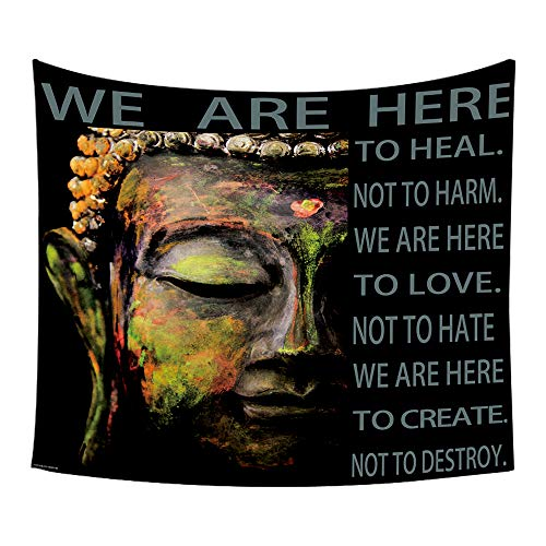 Moylor Zen Meditation Buddha Pattern Tapestry Wall Art Hanging Headboard Bedroom Dorm Living Room Decor