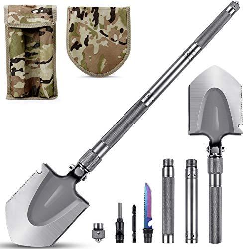 MOSFiATA Camping Shovel 75cm Military Folding Shovel, 16 All...