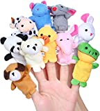 Aoi 10 Marionetas de Dedo de Animales pequeños, Juguete de marioneta de Mano de Dibujos Animados de Felpa, Regalo para niños, cumpleaños, Fiesta Infantil, Bautismo, Baby Shower