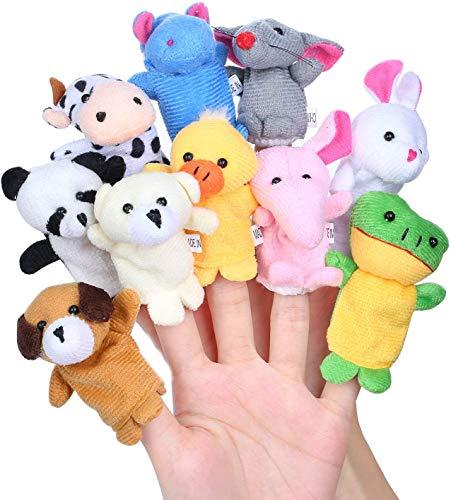 Aoi 10 Marionetas de Dedo de Animales pequeños, Juguete de
