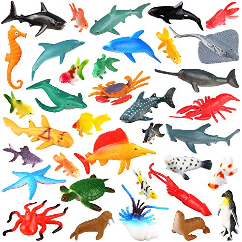 [36 Pack] Ocean Sea Animals Bath Toys for Party Favor...