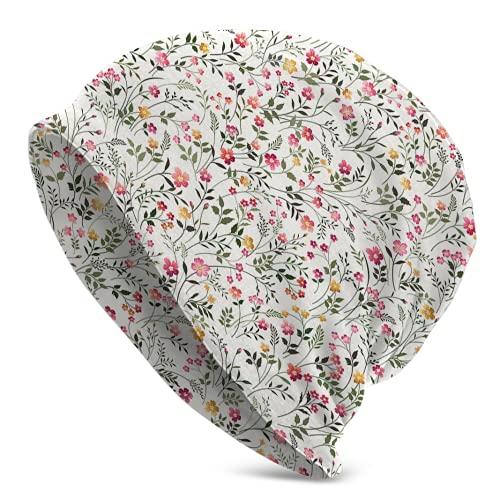 Jimbseo Floral Prado Flores Sombrero Caliente Invierno Sombreros para Hombres Mujeres