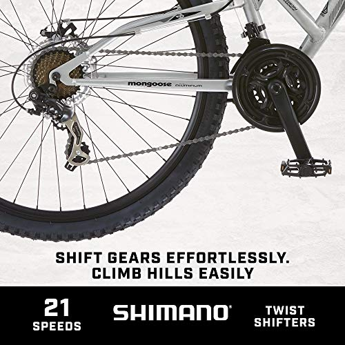 Product Image 4: Mongoose Impasse Mens Mountain Bike, 18-Inch Frame, 29-Inch Wheels with Disc Brakes, Silver