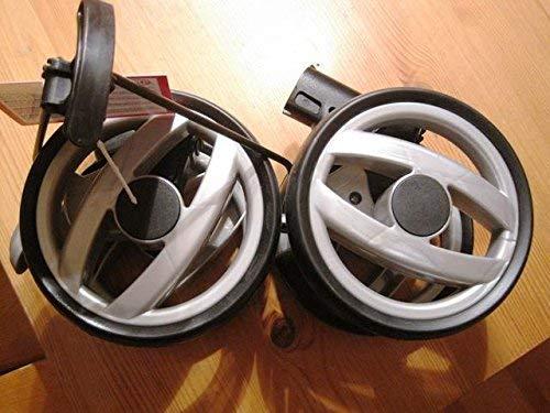 Peg Perego Double Roue arrière Noir Gris seulement pour Peg Perego Switch
