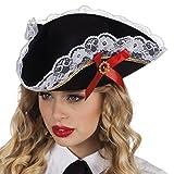 Boland- Sombrero pirata Stacey para adultos, Color negro, talla única (81928) , color/modelo surtido