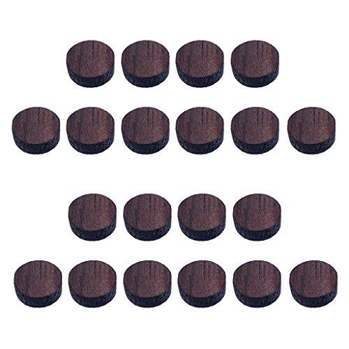 20pcs Griffbrett Dots Inlays aus Holz 6 x 2mm/ 3 x 2mm für Gitarre, Ersatzteile - # 1 Palisander