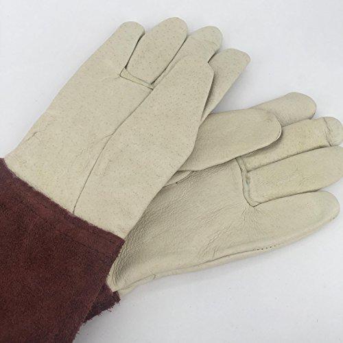 Nutley's Quality Ladies Leather Gauntlet Gardening Gloves Handmade Leatherware Thornproof