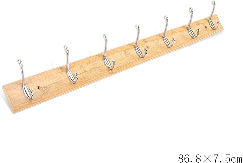 Wall-Mounted Coat Rack, European Solid Wood Wall Coat Rack Household Wall Hook, Multi-Size (Size   Seven Hooks)