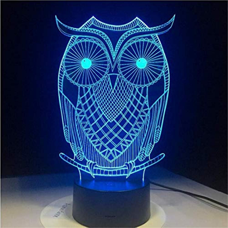 Helles Villenlicht Bunte Acryl-Farbverlaufsatmosphre-Vogel-Lampe mit Gravur