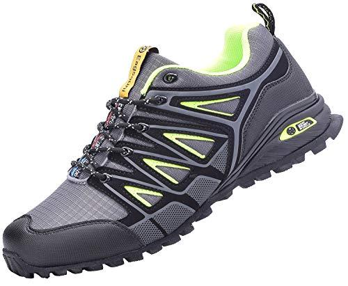 Eagsouni Laufschuhe Herren Damen Traillaufschuhe Sportschuhe Turnschuhe Sneakers Schuhe für Outdoor Fitnessschuhe Joggingschuhe Straßenlaufschuhe, Grau, 47 EU