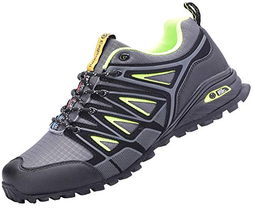 Eagsouni Laufschuhe Turnschuhe für Herren Damen Straßenlaufschuhe Traillaufschuhe Joggingschuhe Walkingschuhe Sneaker Outdoor Traillauf Fitness Gym Schuhe, Grau, 41 EU