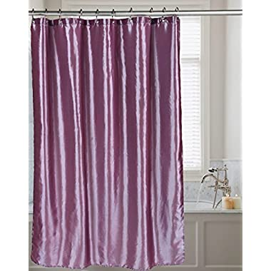 Shimmer Faux Silk 100% polyester Shower Curtain 70  wide x 72  long , Purple