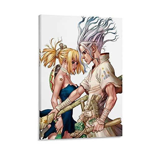 YYCYY Dr Stone, Boichi, blonde Toile d'art et décoration murale imprimée, 30 x 45 cm