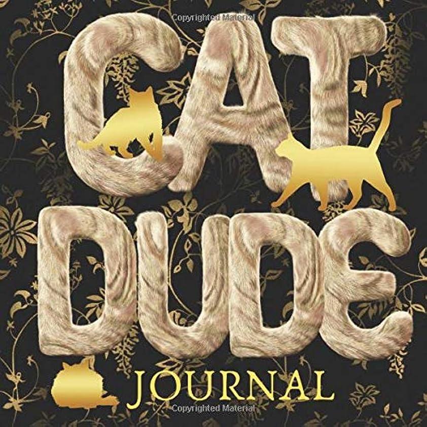 ホステス過敏な適度なCat Dude Journal: Wide Lines Easy on the Eyes Gag Gift Notebook (Catty Furry Journals)