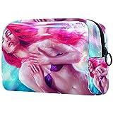 FURINKAZAN Bolsa de maquillaje de viaje de hadas de sirena de fantasía para artículos de tocador, bolsa de maquillaje para hombres y mujeres