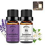 Yethious Jasmine Lavender Essential Oil Set 100% Organic Pure Aromatherapy Massage Oil 2 Pack for Diffuser