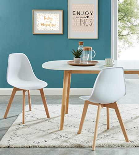 Baita Sigrid - Juego de 2 sillas, Color Blanco, 85 cm de Altura
