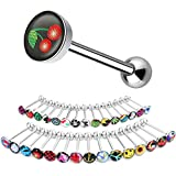 BodyJ4You 30PC Tongue Ring Logo Nipple Barbell 14 Gauge Surgical Steel Body Piercing Jewelry Lot