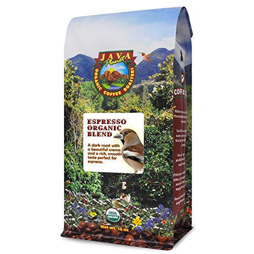 Java Planet - Espresso Coffee Beans, Organic Coffee, Dark Roast Arabica Gourmet Specialty Grade A, packaged in 1 LB bag