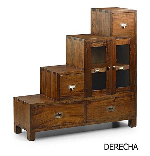 DECORACIÓN BELTRÁN Stufenschrank im Colonial Style : Kollektion FLASHMINGO Rechts 100x100x32cms.