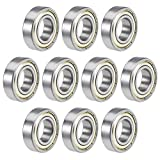 uxcell 6003ZZ Deep Groove Ball Bearings 17mm x 35mm x 10mm Double Shielded Chrome Steel Z2 10pcs