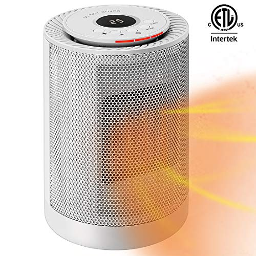 VIVOHOME 1200W 3 Modes Ceramic Space Heater Fan with Thermostat and Auto Oscillating, Overheat Protection and Tip-Over Protection, ETL Listed, White Heater Oscillating Space