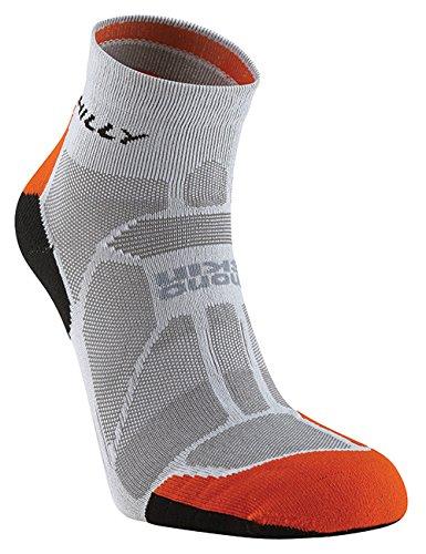 Hilly Unisex Marathon Fresh Anklet, Grey/Orange/Black, X-Large