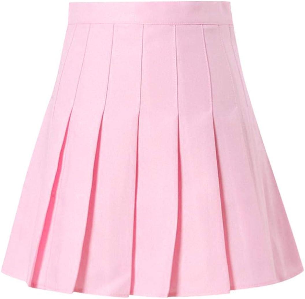 YIUYIU Women's Fashion High Waist Pleated Mini Skirt Slim Waist Casual Tennis Skirt