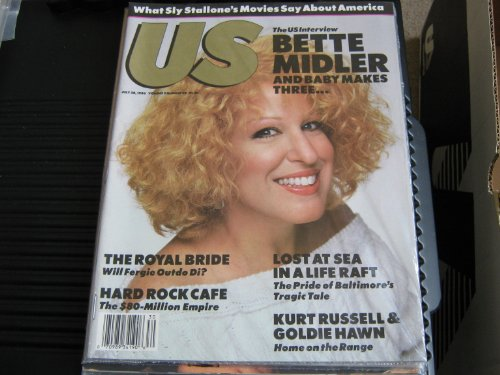 US Magazine (Bette Midler , Sly Stallone , Kurt Russell & Goldie Hawn , The Royal Bride, July 28 , 1986)