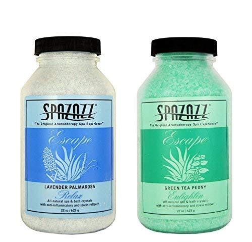 Spazazz Aromatherapy Spa/Bath Crystals 2PK - Lavender Palmerosa/Green Tea Peony