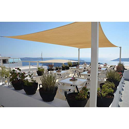 Restseller24 Sonnensegel 3x4m Sand rechteckig wasserfest UV-Schutz Sonnenschutz aus reißfestem Polyester wetterfest Garten Balkon Terrasse Camping