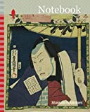 Notebook: The actor Bando Hikosaburo V as Konjin Chogoro, from the series One Hundred Selected Actors (Haiyu hyakkasen), 1864, Utagawa Kunisada I ... Japan, Color woodblock print, chirimen-e