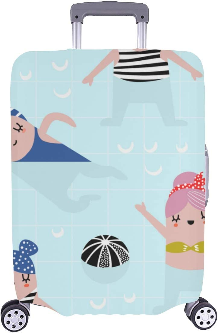 Protective Cover Luggage OFFicial site Swimming Girl Happy Durable Elegant Was New popularity