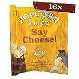 Popcorn Shed | Confezione monoporzione popcorn al formaggio Cheddar da 16 g, include 16 confezioni monoporzione | Snack 100% con ingredienti naturali, senza glutine e vegetariani