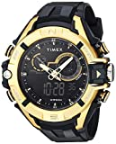 Timex Men's TW5M23100 DGTL Guard Bold Combo 47mm Black/Gold-Tone Resin Strap Watch